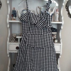*3 FOR $30* GB Girls Black White Gingham Dress